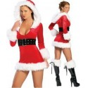 Costume Santa Claus red dress with cape