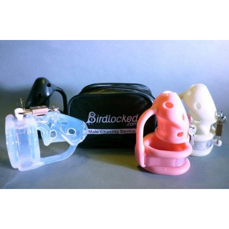 Birdlocked Silicone Chastity Cage - 2 diameter sizes available.