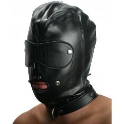 Hardcore leather hood - BDSM