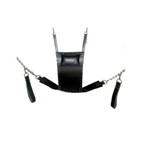 Hanging leather chair for submission - SM dungeon