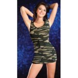 Sexy camouflage dress - military fatigues