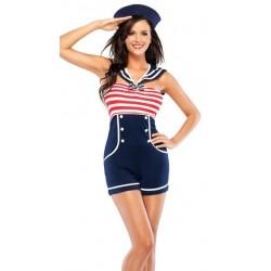 Shorts suit - PinUp sailor, sexy ship's mate