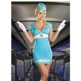 Tight fitting sexy air hostess costume