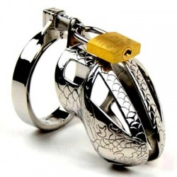 The Cobra - metal snakeskin chastity cage