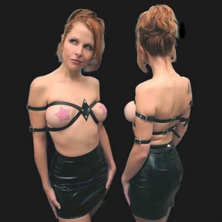 Bra straps of leather - Constraints SM Bondage
