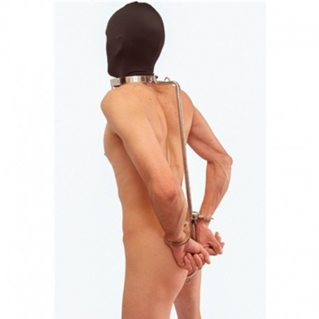 Hold the line - Position restraint collar with anal hook - BDSM