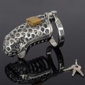 Snake Head - chastity cage in metal - snake's head
