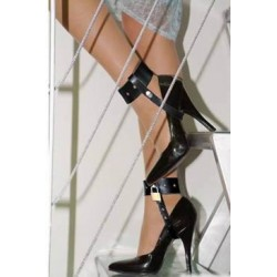 Locking Straps and Cuffs with Padlock for High Heels