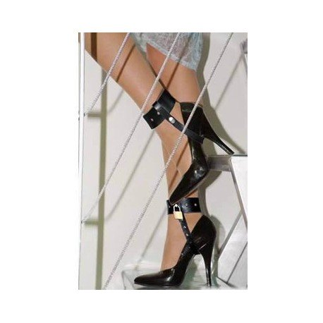 Locking Straps and Cuffs for High Heels with Padlock
