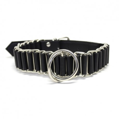 The Loop BDSM Submission Collar in Leather and Metal