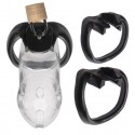 Rikers Locking - polycarbonate ABS chastity cage