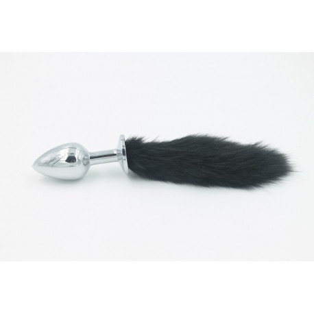 Rosebud - anal plug jewellery - fluffy colourful tail