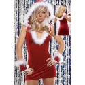 Sexy Mother Christmas Outfit - sexy, hooded dress with gloves and plunging neckline.