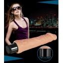 Realistic vibrator - 18 cm - waterproof