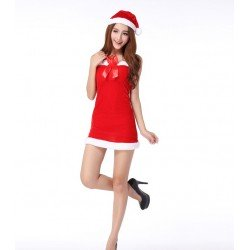 Nightdress for Christmas - simple and sexy with a Santa hat