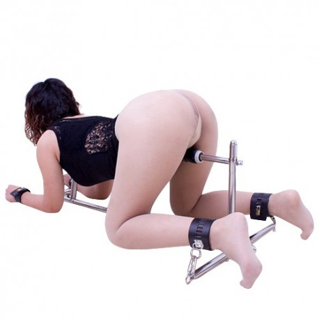 Doggy position restraint post - bondage - with dildo