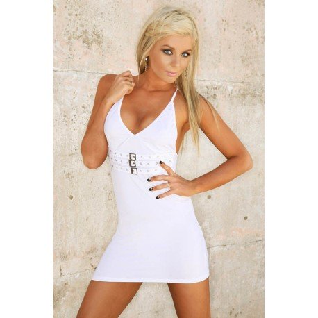 Evening Dress Clubwear: Ultra White