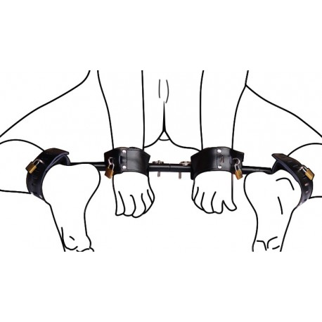 Ankle and Wrist Restraint Spreaders for forced doggy-style!