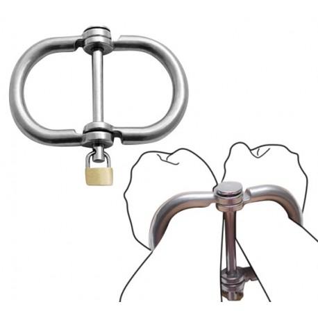 Irish 8 handcuffs in metal BDSM