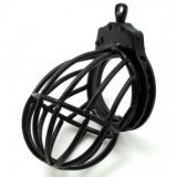 The Black Star Chastity Cage - also encases testicles!