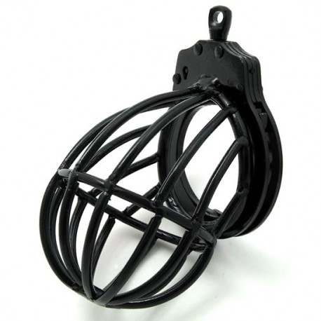 Chastity cage for penis + testicles