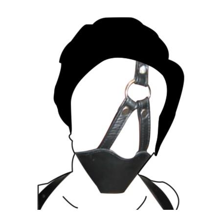 Bondage leather, gag-ball muzzle