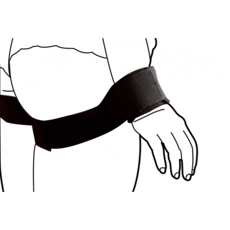 Bondage Cuff Restraints: Arms along the body