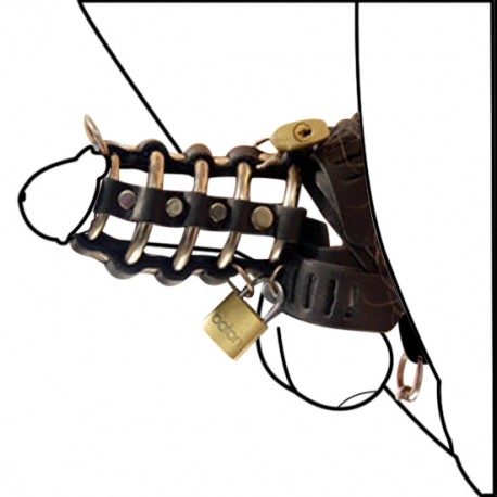 Gates of Hell Leather Chastity Cage