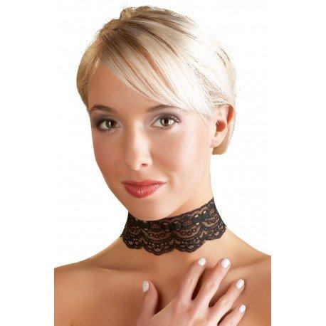 Ras neck Black Lace necklace