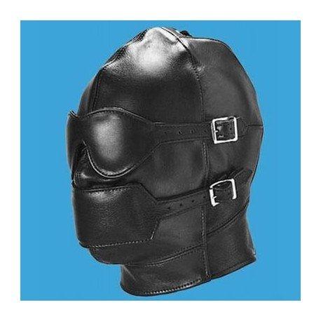 Full Face Leather BDSM Bondage Hood