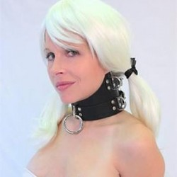 High Collar Choker - Leather Submission Collar