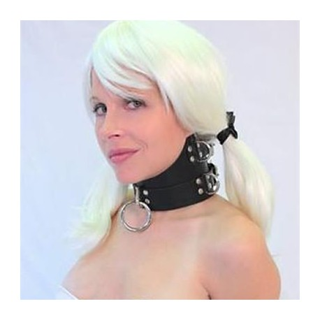 Necklace domination submission leather high collar