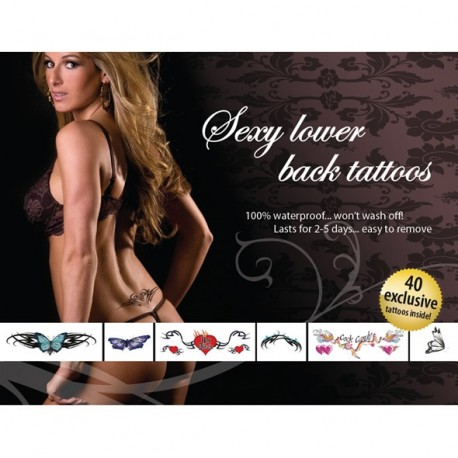 Ephemeral, Temporary Tattoos. Set of 40 for a sexy lower back!