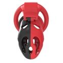 Cage de chasteté Plastique design Rouge/Noir