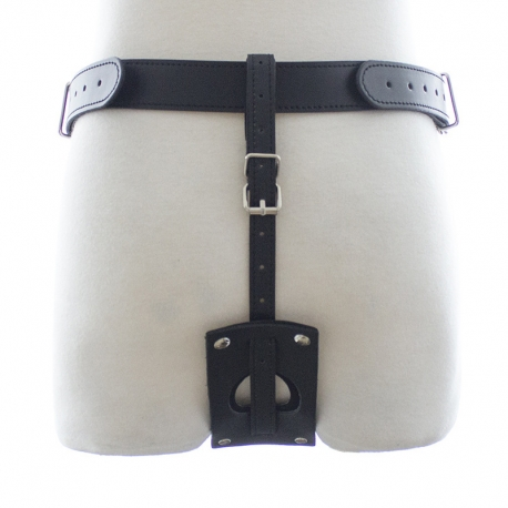 Sexy Underwear Harness Dildo Vibrator Chastity Strap On - color: black - size: pants+pink vibrator