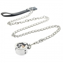 Leash - color: silver & black