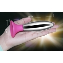Bobby - Metal 13 cm anal plug with suction cup
