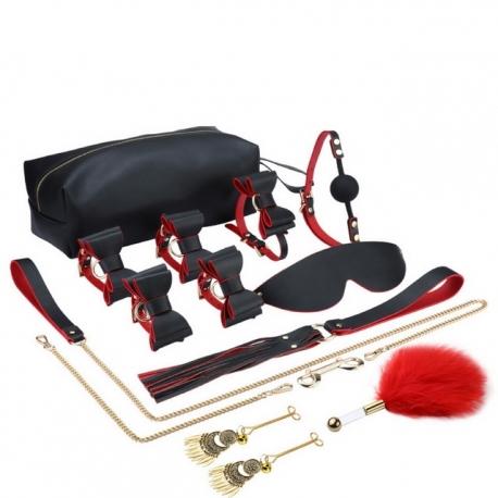 Kit bondage SM x pièces avec sac de transport, luxe