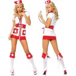 Sexy nurse costume, red cross
