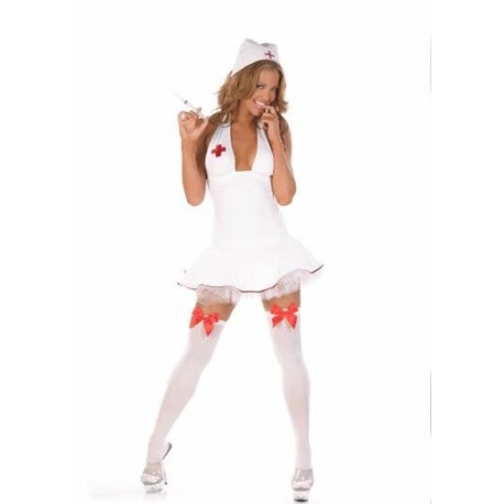 Sexy nurse costume, red cross