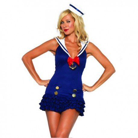 Marine sailor costume sexy woman!