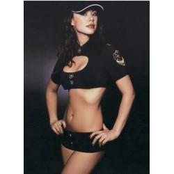 Costume police: bra and mini shorts - Miami Vice!