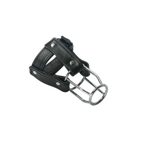 Stallion Guard Leather Chastity Cage