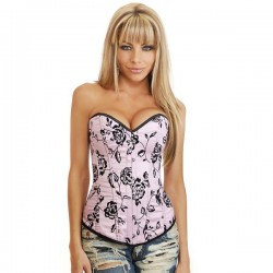 Corset: Sexy Pink & Black Floral