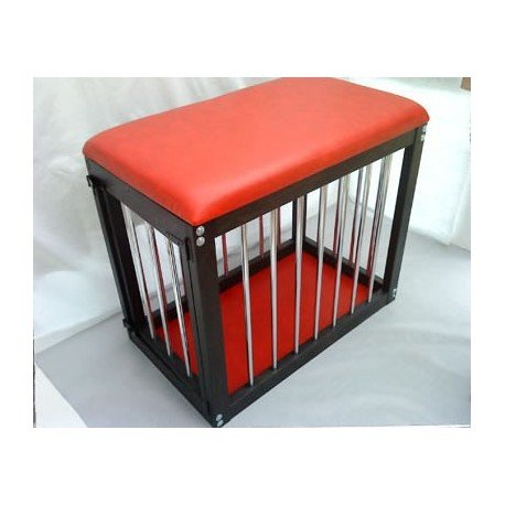 Cage subject: Wood and leather
