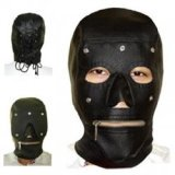 Hood with detachable mask and mouth zipper