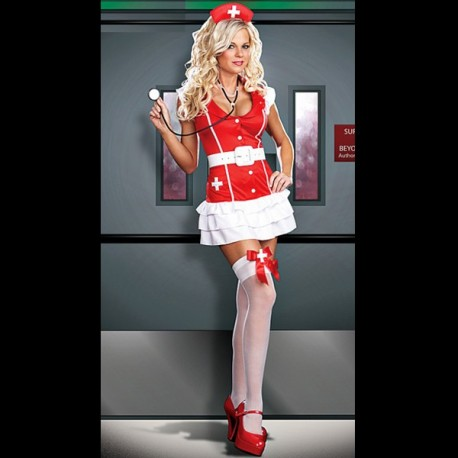 Sexy Costume: Nurse Dress Red and White