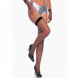 Black fishnet stockings - Mesh wide net