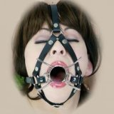 Spider harness gag: to open mouth