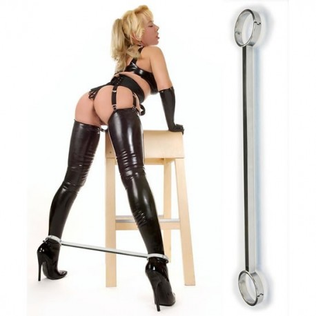 BDSM ankle spreader bar steel. Luxury Series